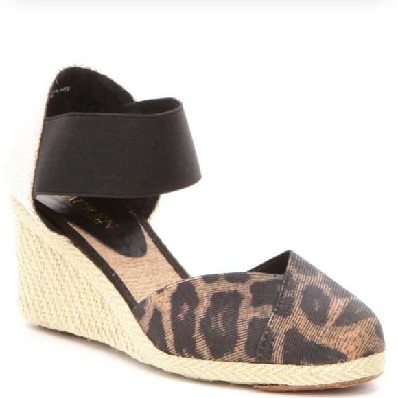 e67d11d6a1f2 NEW Ralph Lauren Charla Wedge Sandals
